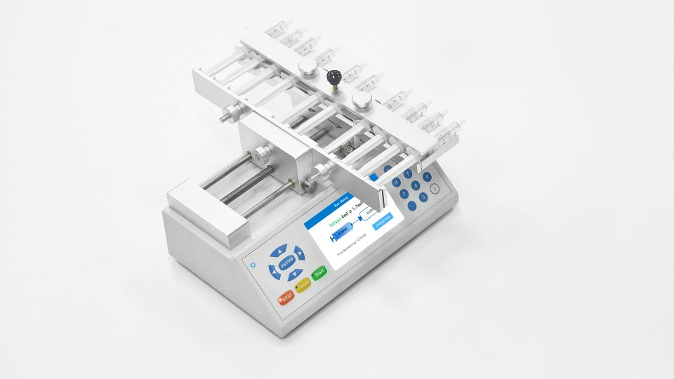 Fusion 200 Syringe Pump with 10 Channels Rack